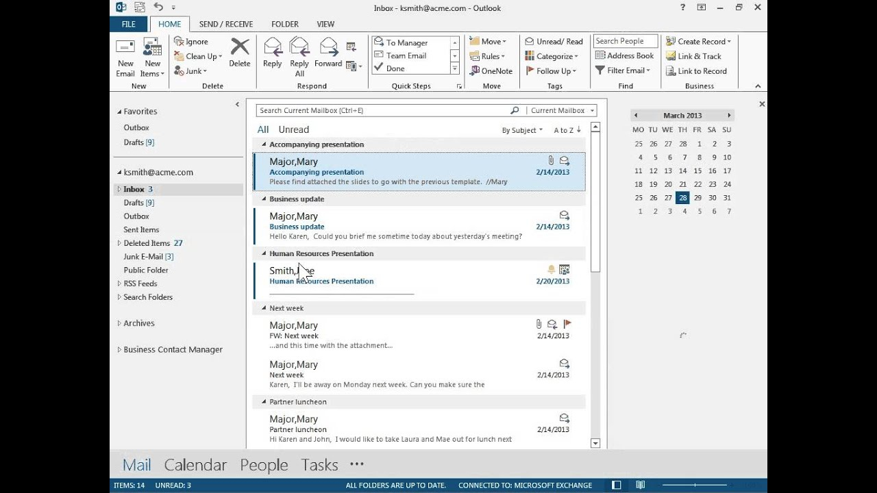 Outlook 2013 Remove The Calendar Peek From The Outlook