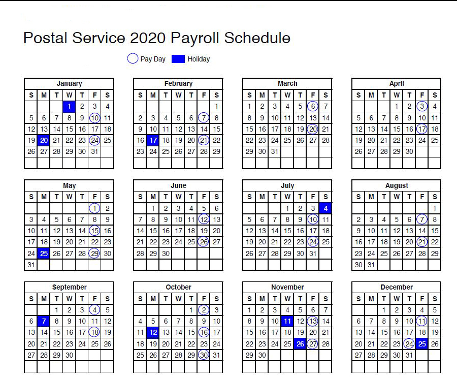 Paydays | Usps News Link