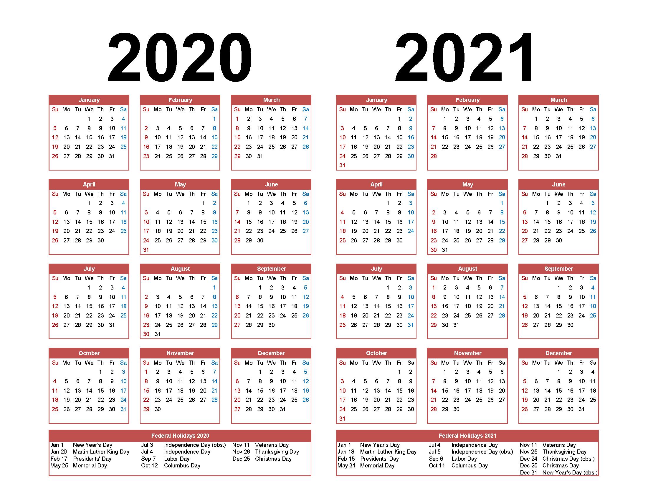 Pick 2020 Calligraphy Calender Printable | Calendar