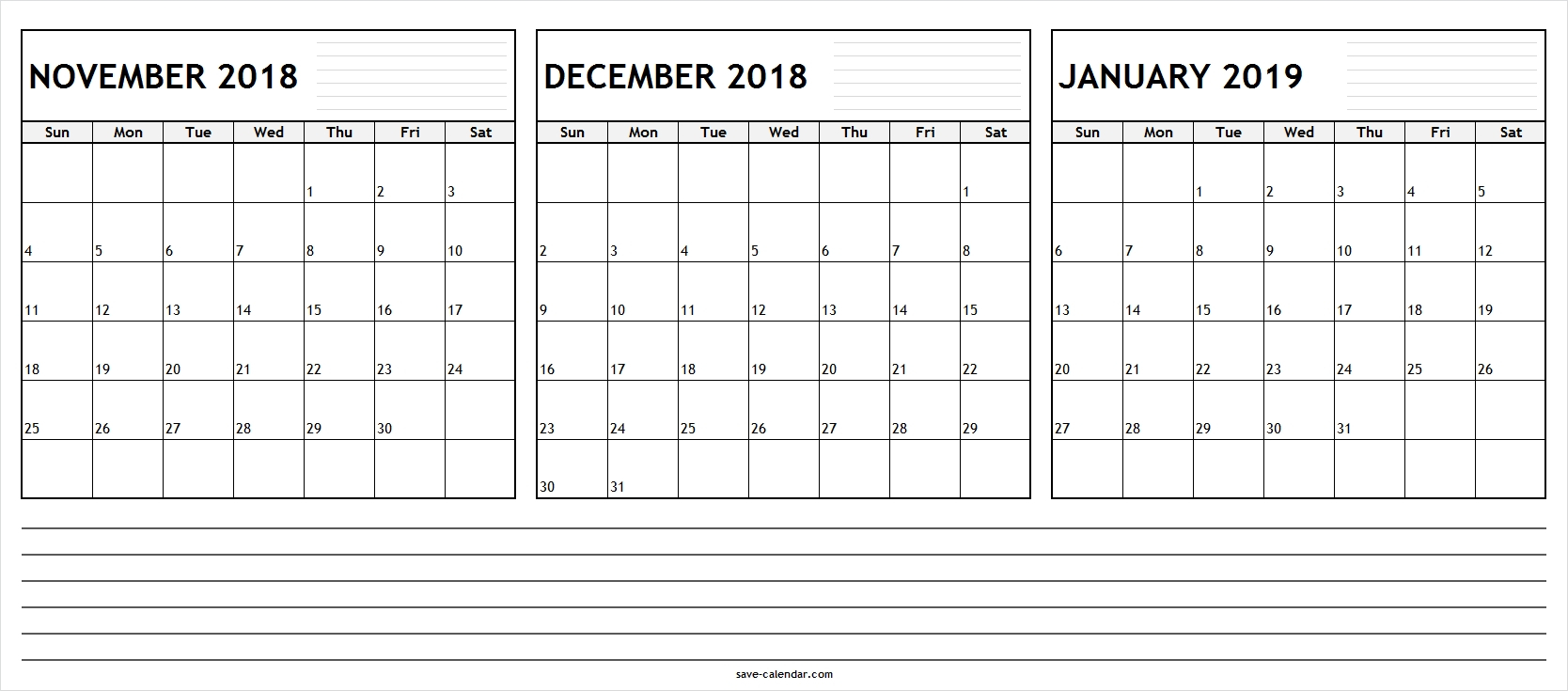 Pick November December 2019 And January Calendar ⋆ The