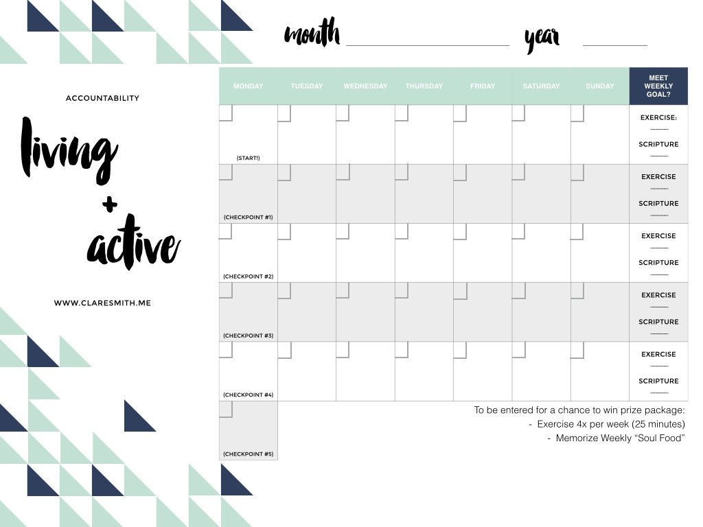 Pinemily Grasser On Blog | Active, Blank Calendar