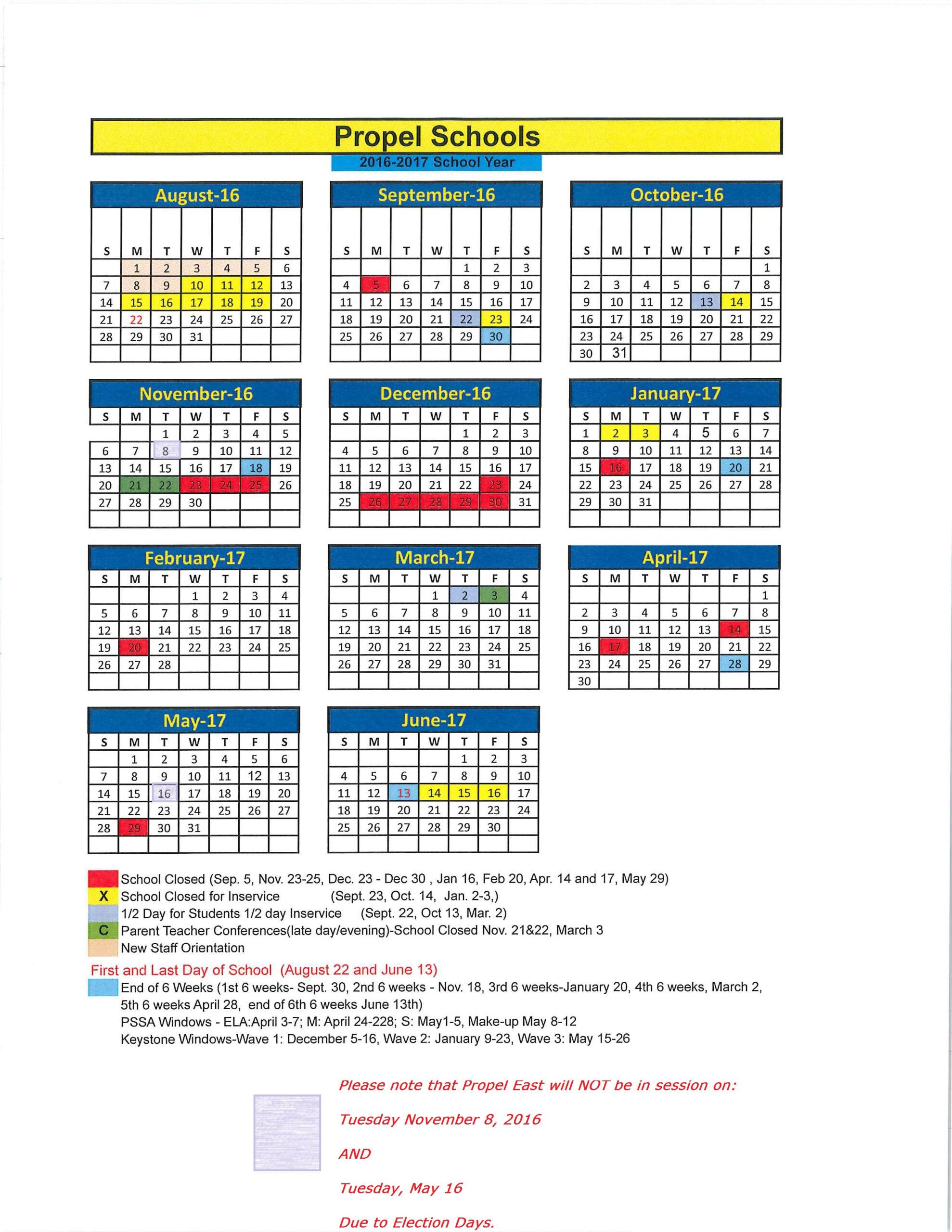 Pittsburgh Public School Calendar | Calendar Fall 2020