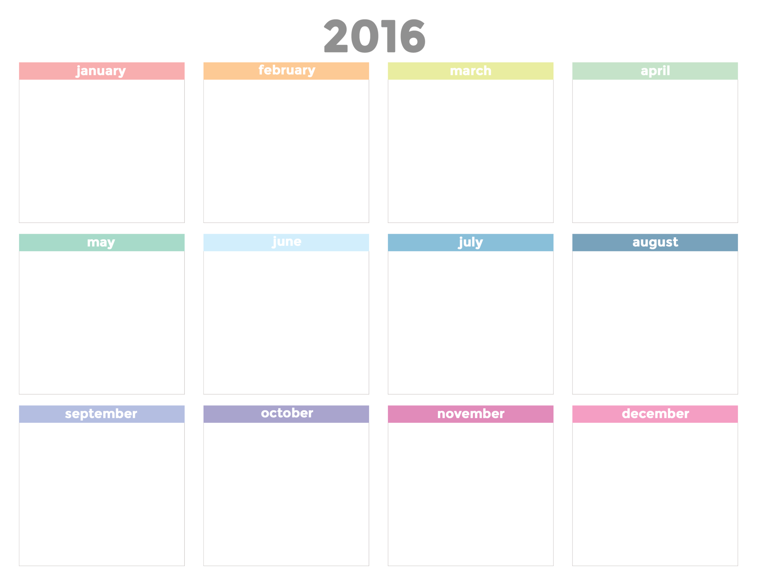 Printable 2016 Calendar And Cute Office Ideas | The Flair
