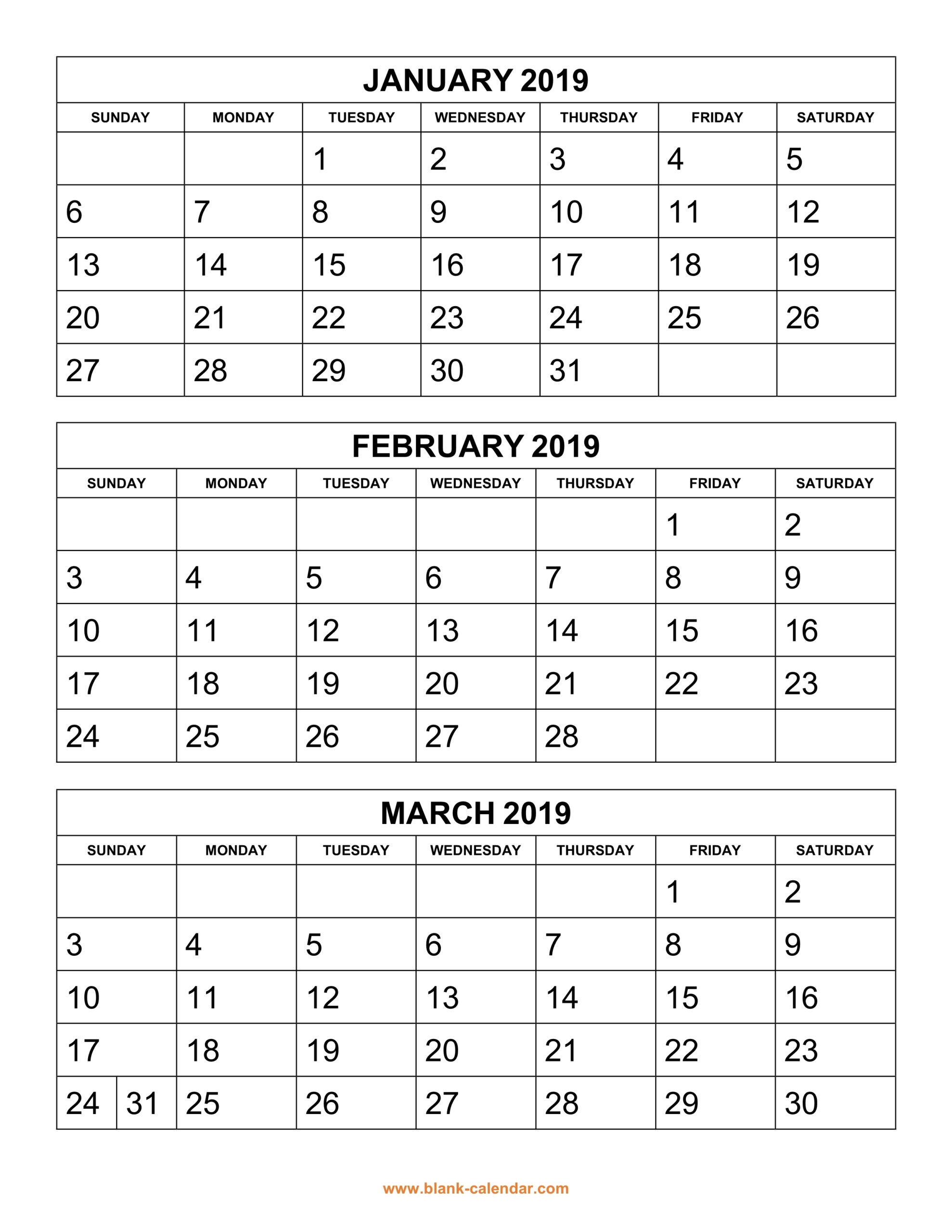 Printable 6 Week Calendar 2019 | Printable Calendar 2020