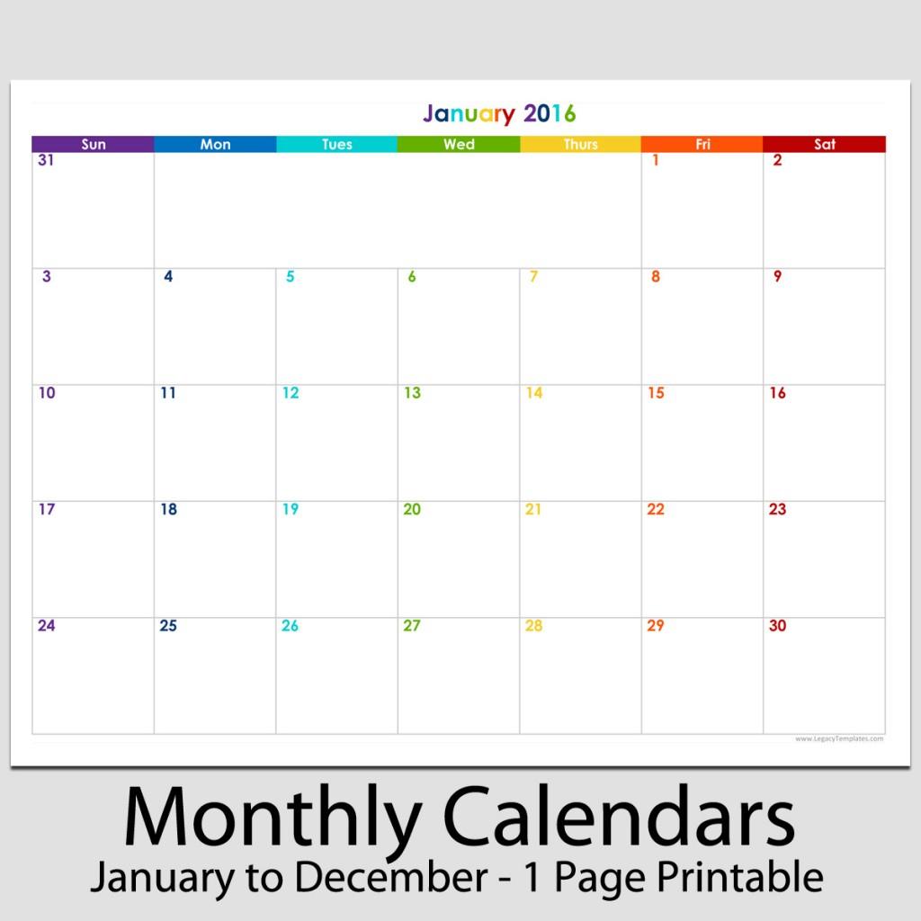 Printable 8.511 Blank Calendar | Example Calendar
