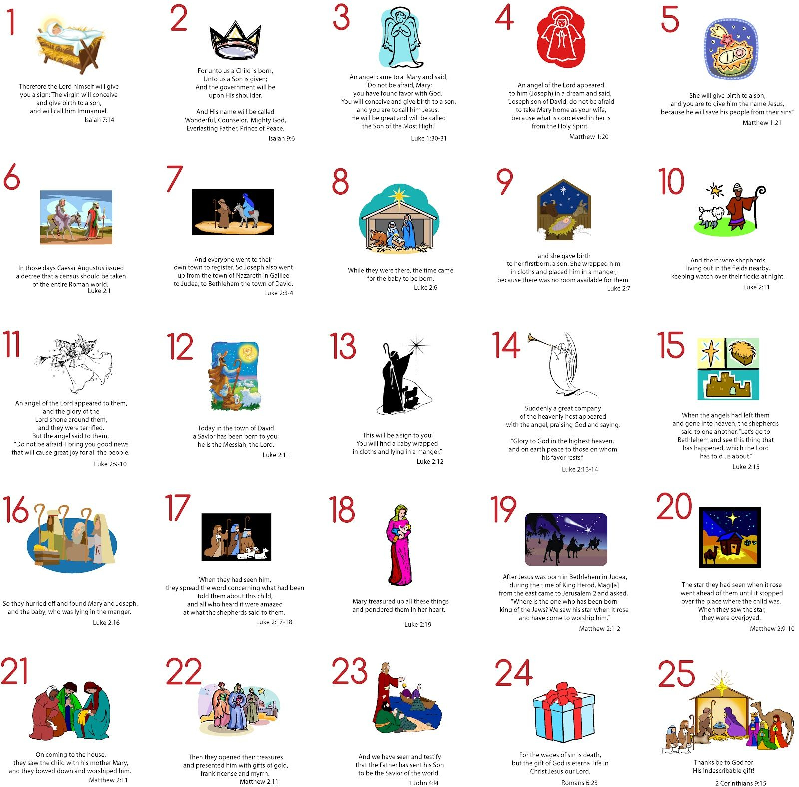 Printable Advent Calendar | Modern Typography: Advent