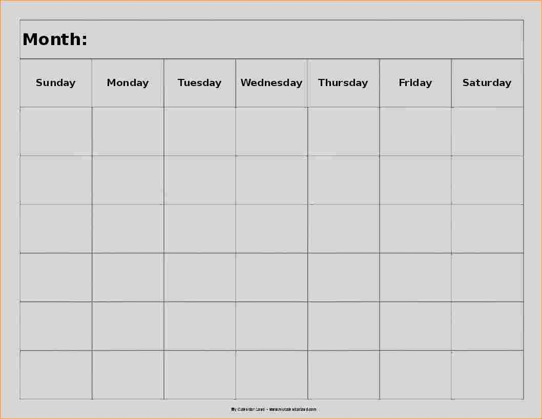 Printable Blank 8 Week Calendar | Printable Calendar 2019 2020