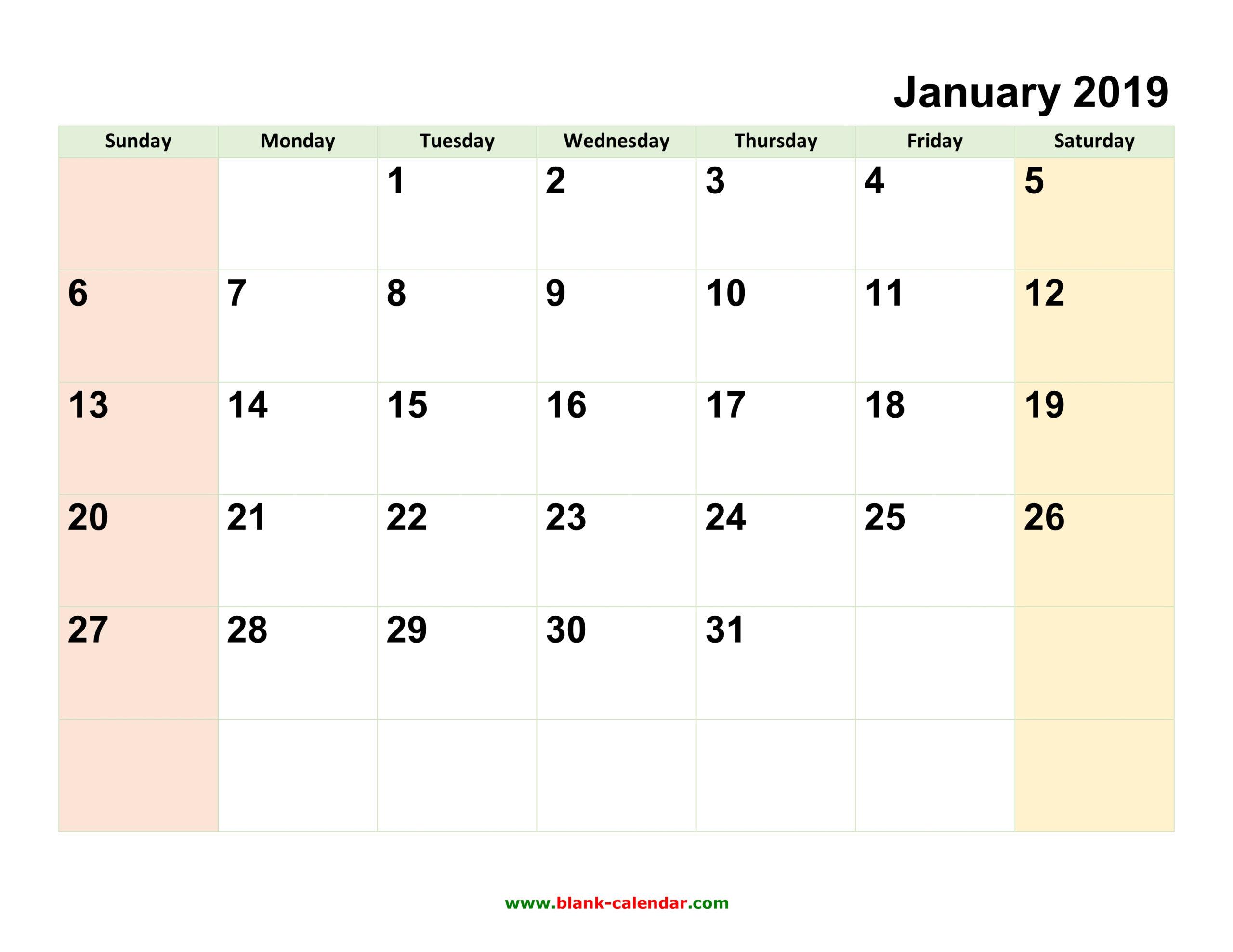 Printable Calendar 2019 Typable | Printable Calendar 2020