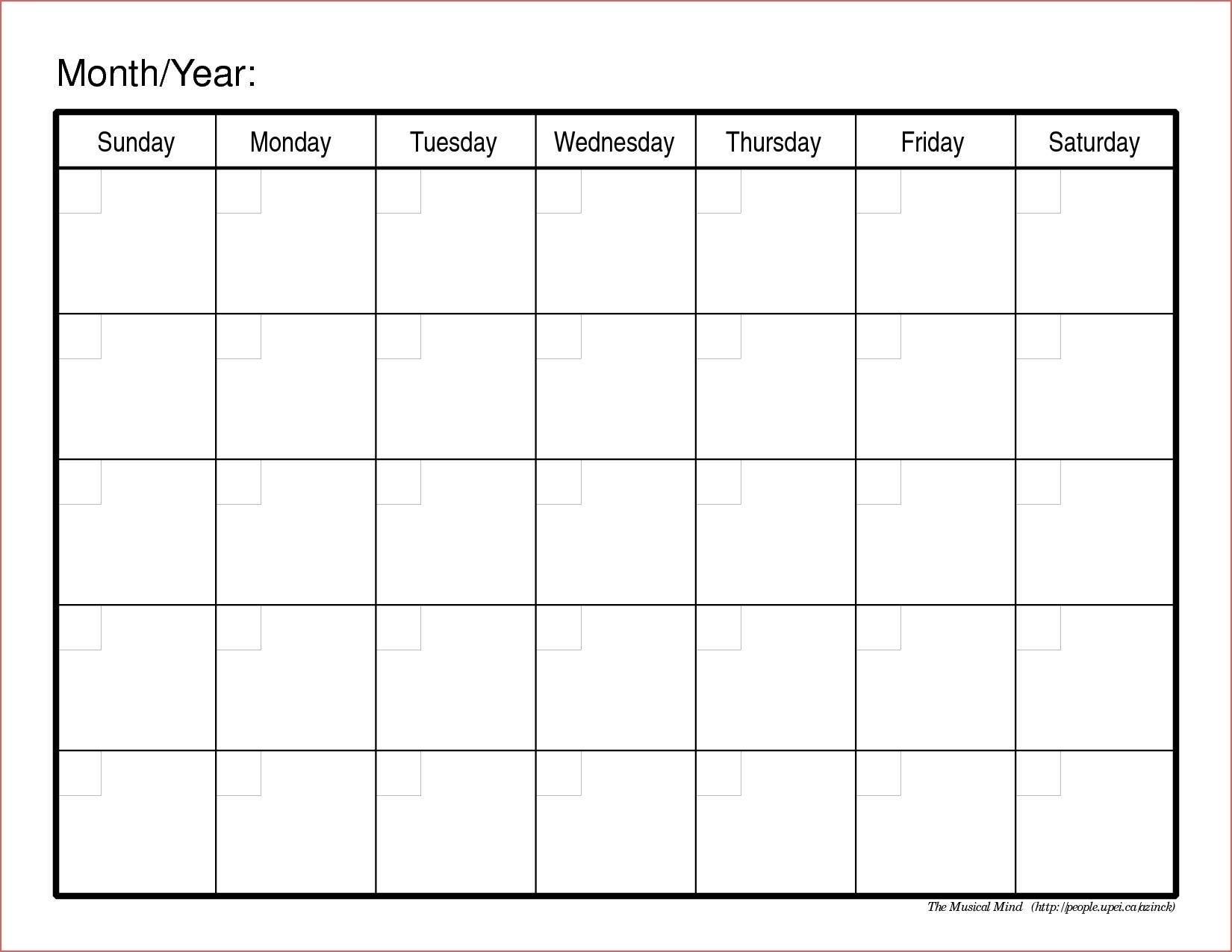 Printable Calendar 6 Week | Month Calendar Printable