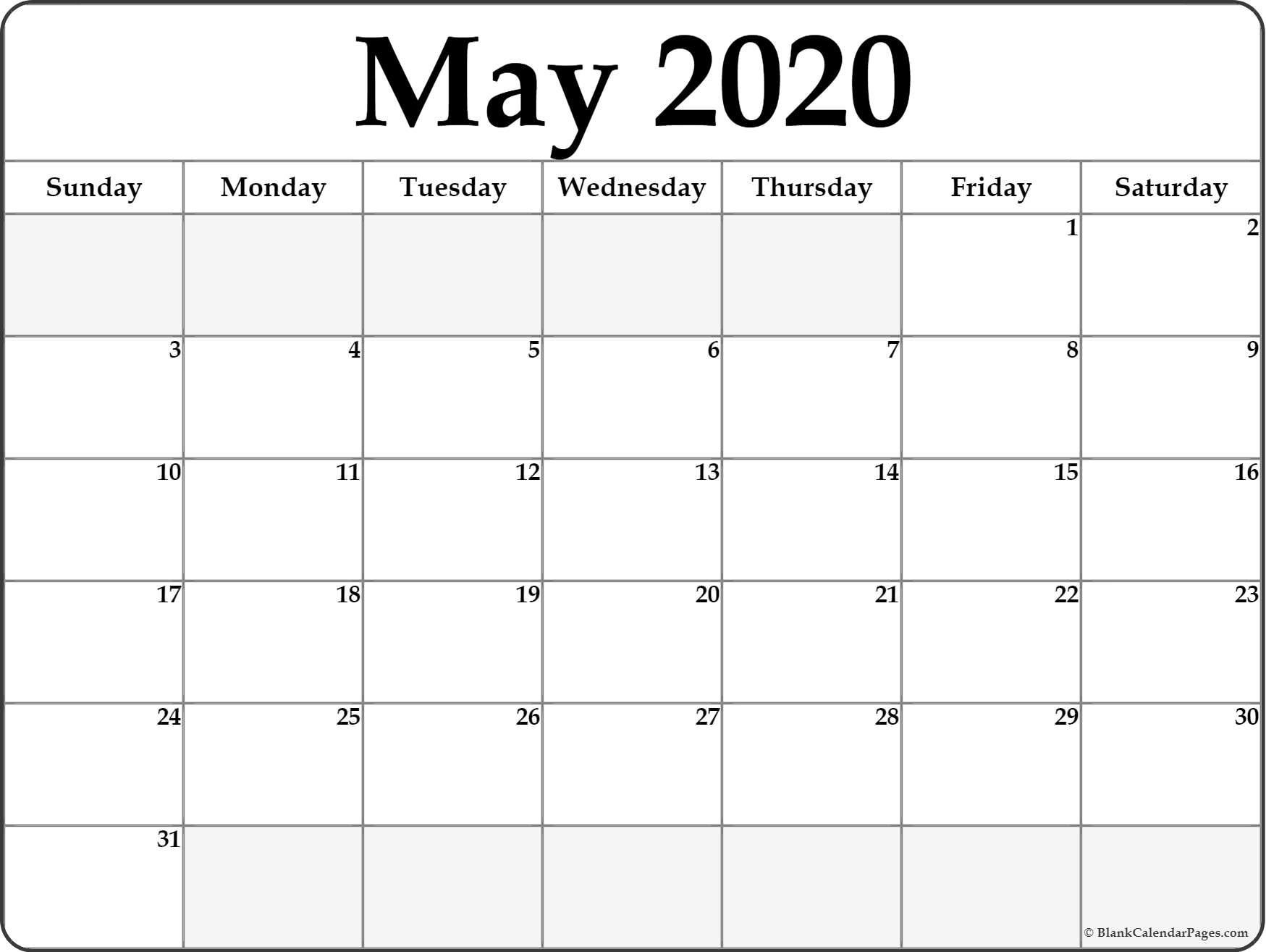 Printable May Calendar 2020 With Design | Example Calendar