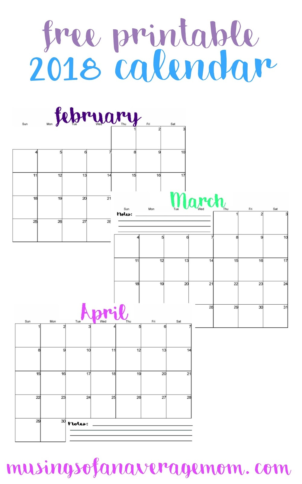 Printable Monthly Calendar Imom | Printable Calendar 2019 2020