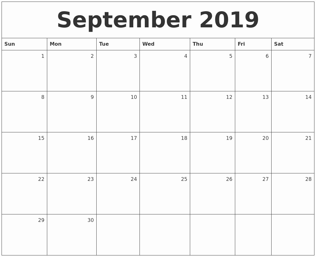 Printable Monthly Calendar With Lines Large - Calendar