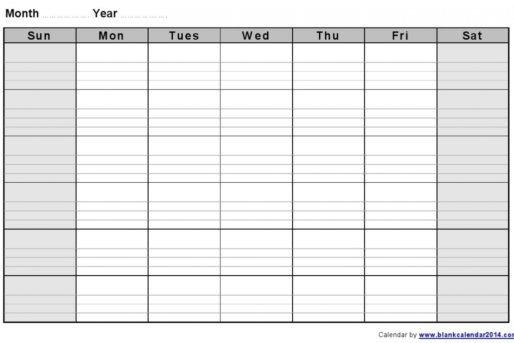 Printable Work Week Calendar – Calendar Template 2020