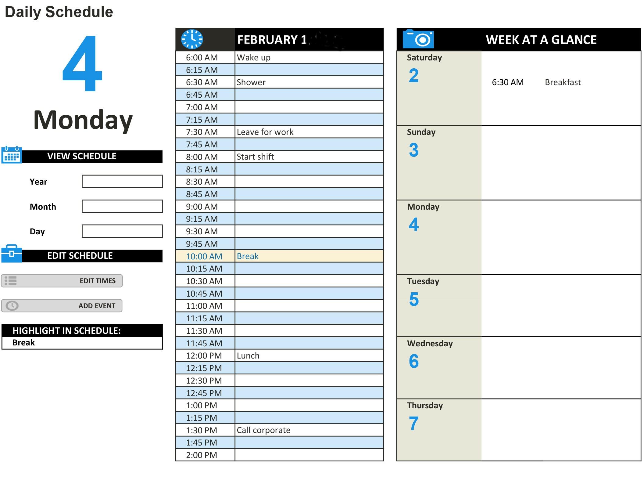 Publisher Daily Calendar Template | Daily Calendar