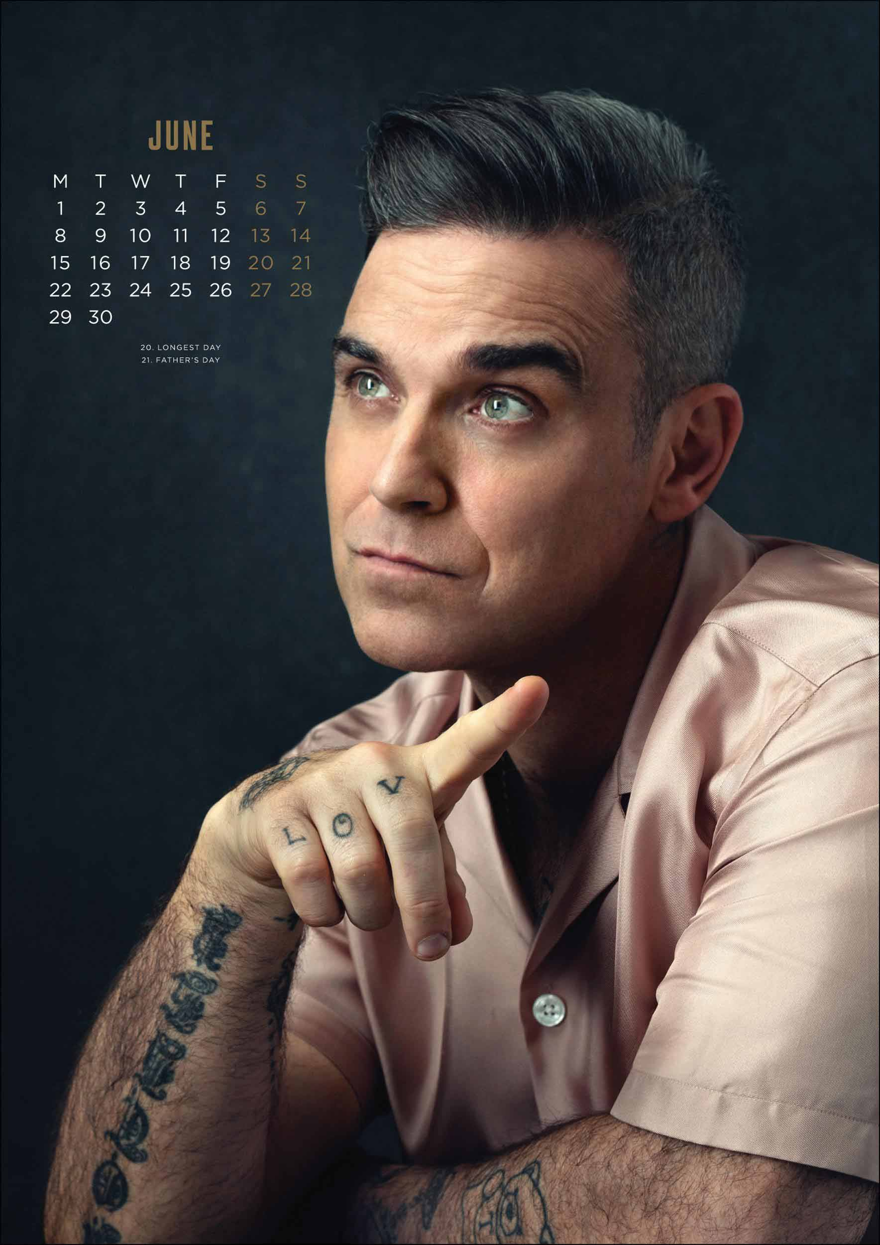 Robbie Williams Official A3 Calendar 2020 At Calendar Club