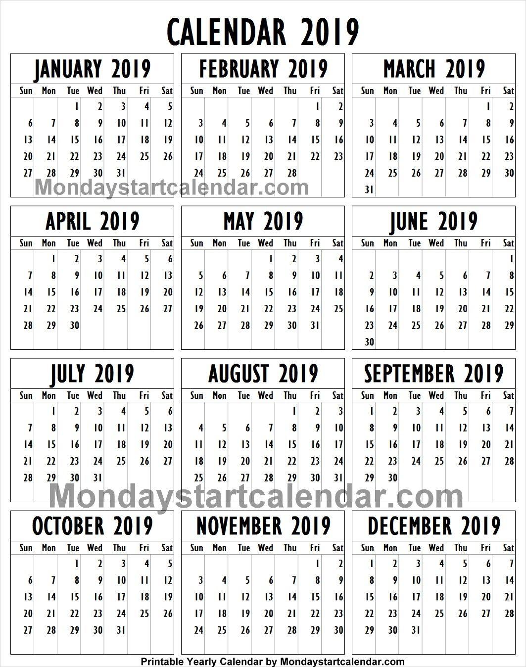 Rustic Printable Calendar 2019   Printable Calendar 2020