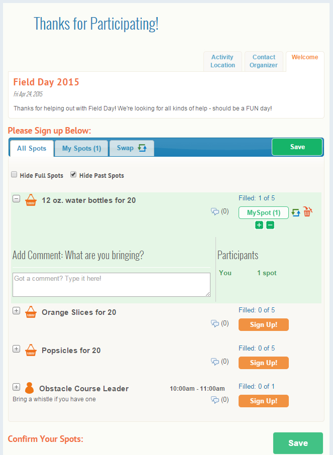 Schedule Field Day Volunteers With Free Online Sign-Ups