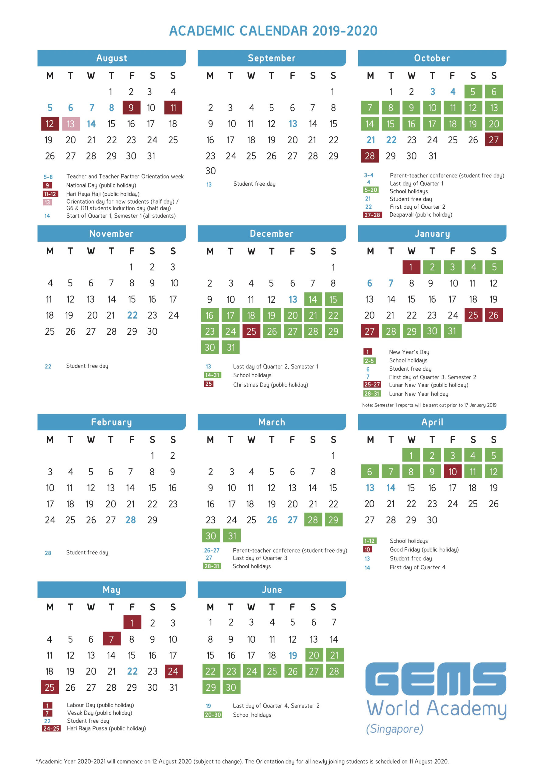 School Terms 2020 South Africa | Calendar For Planning