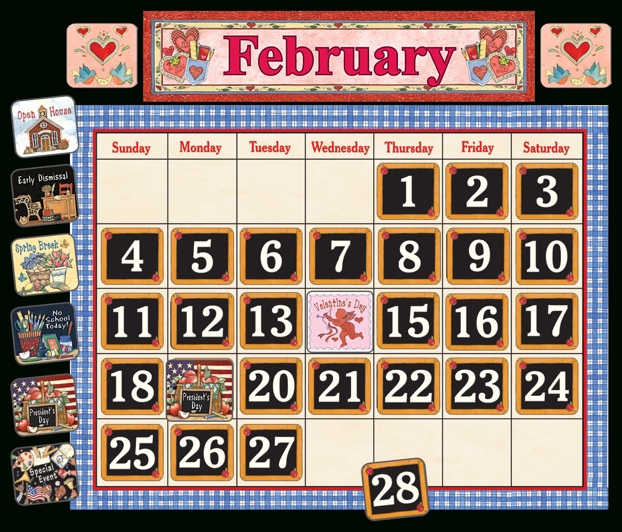 School Time Calendar Bulletin Board From Susan Winget