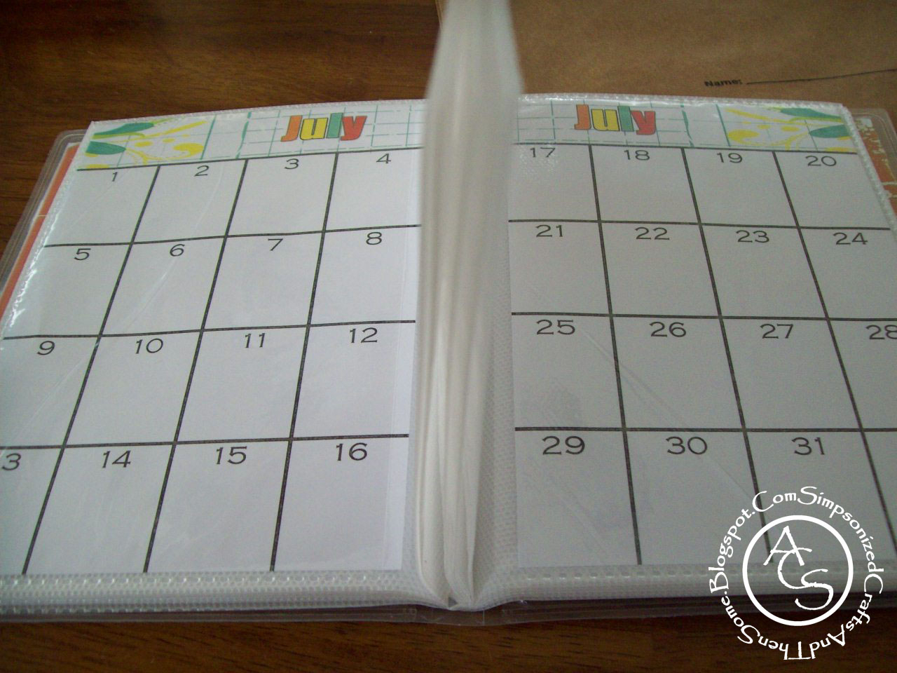 Simpsonized Crafts: Free Printable Birthday Calendar Using
