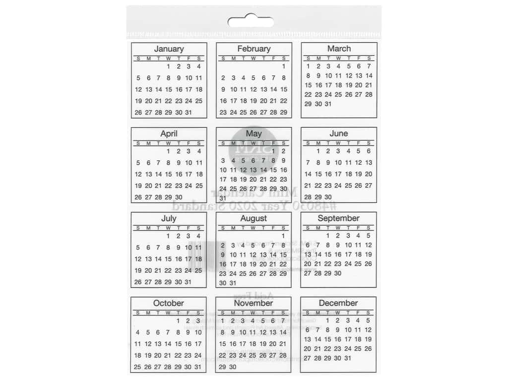 Srm Press Sticker Calendar Mini 2020 Standard -- Createforless