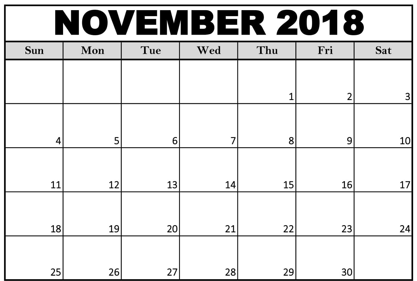 Take Calendar To Print For November And December 2019