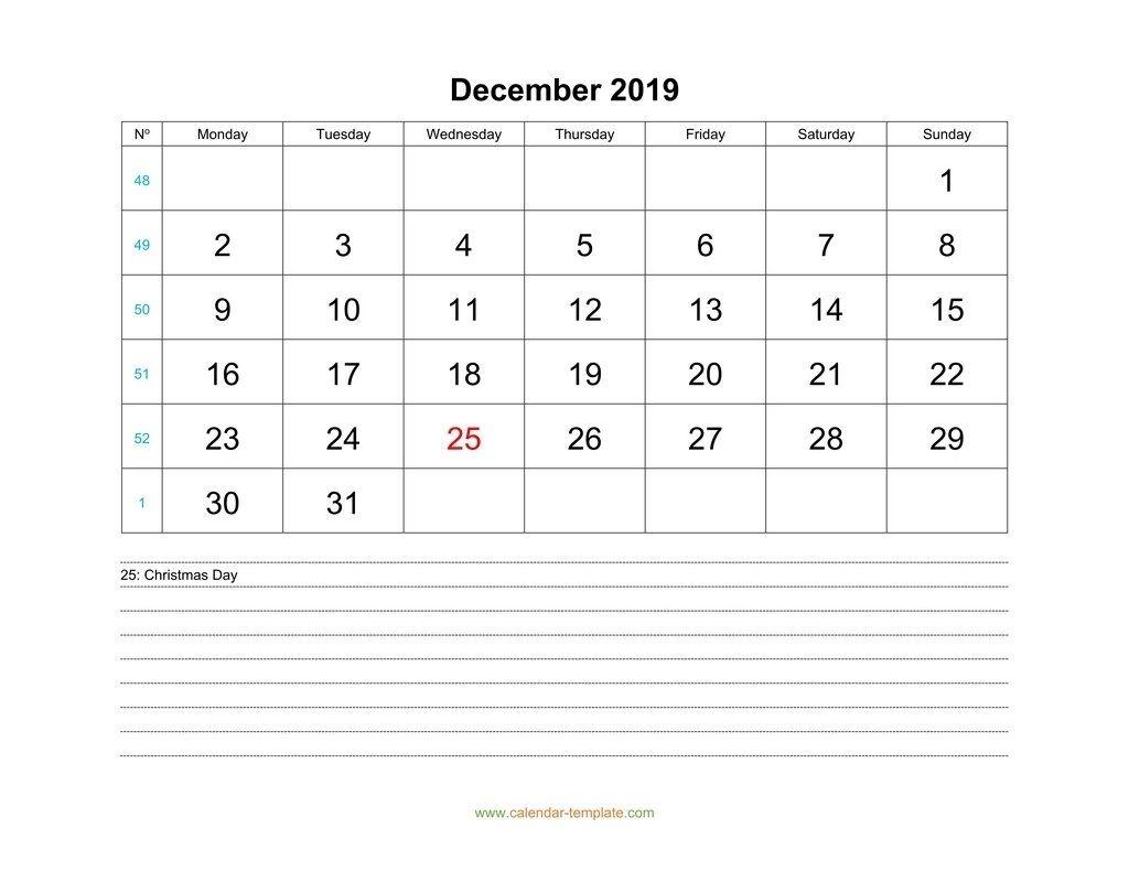 Take December 2019 Calendar Week Start Mon | Calendar