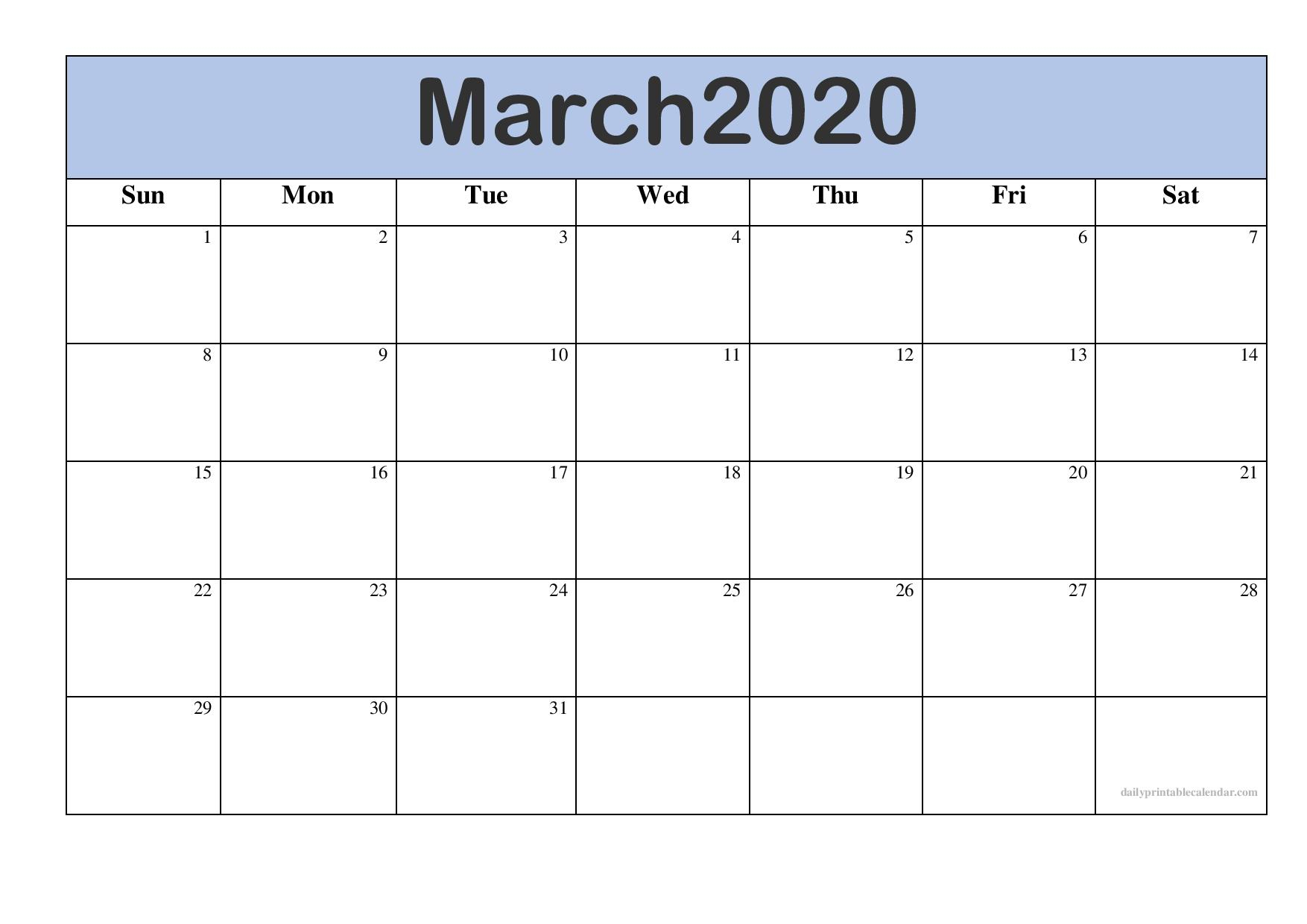 Take Free 2020 Monthly Calendar Printable | Calendar
