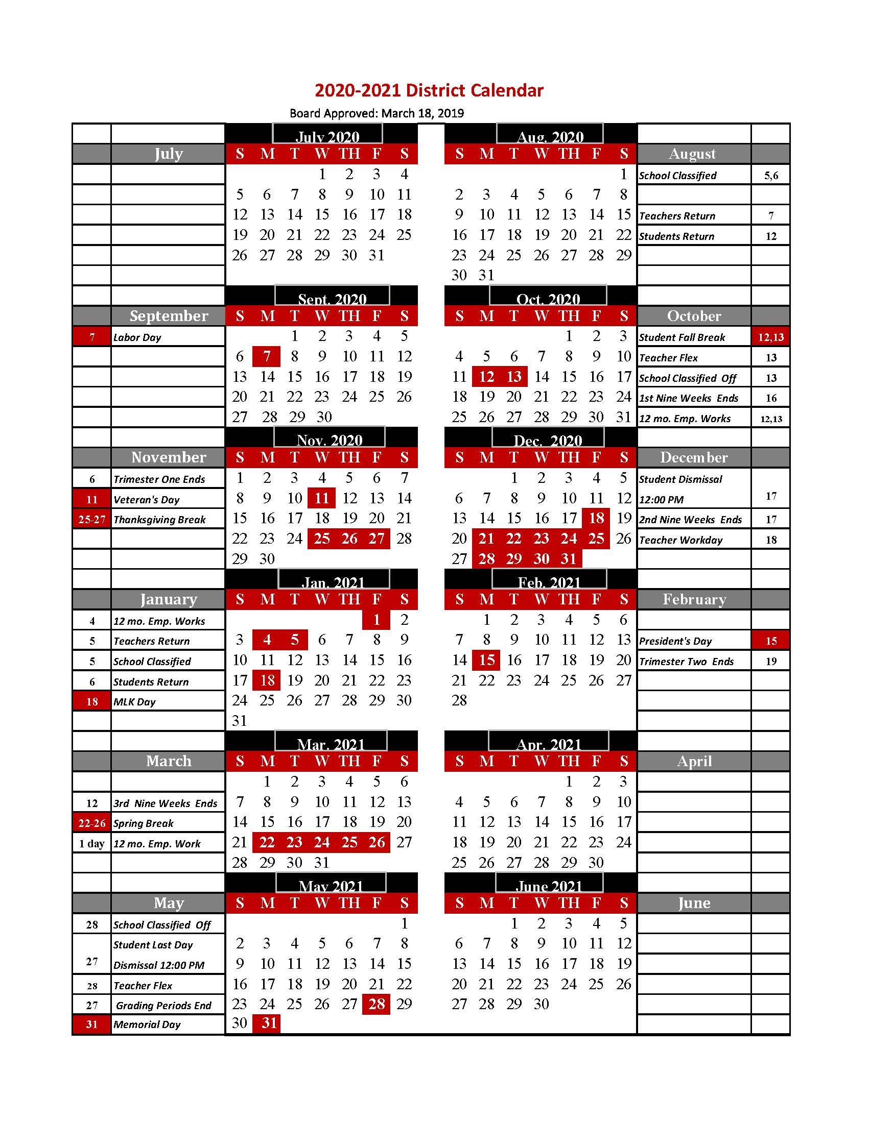 Tcs Calendar 2020-2021 / 2020-2021 Tcs Calendar