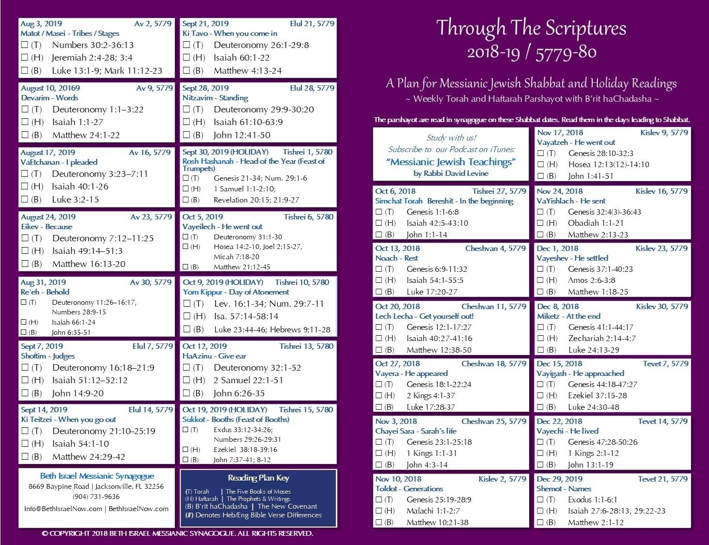 This Week'S Torah Portion 2019 - Calendar Inspiration Design
