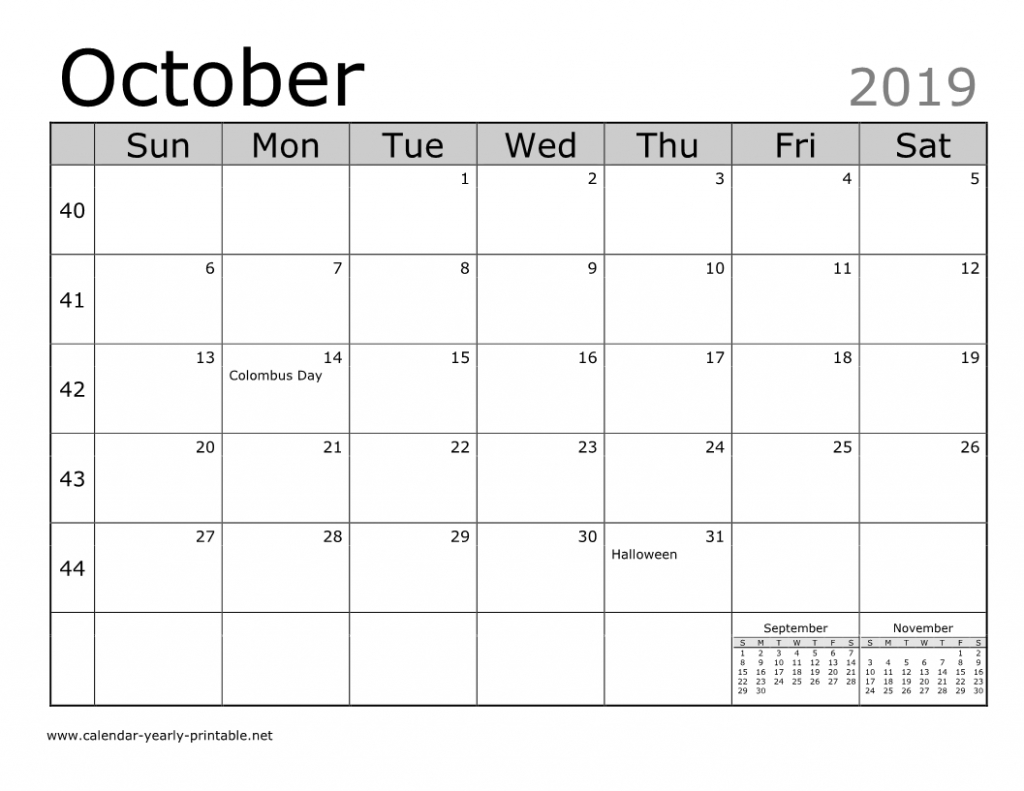Unique Things You Can Celebrate In October 2019 Calendar