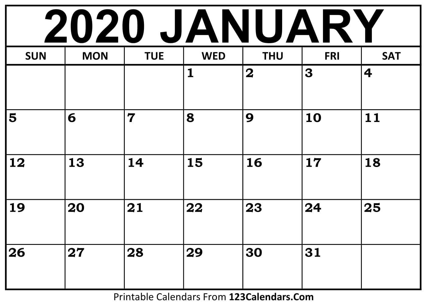 Universal Calendars You Can Edit Online In 2020
