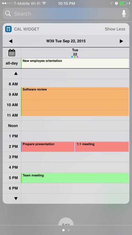 Week Calendar Widget Procrater Tech Llc