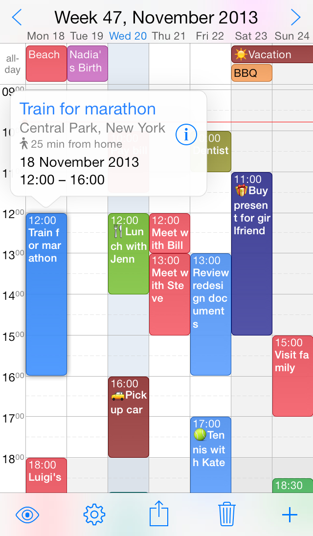 Weekcal Bv Releases Week Calendar 7 For Iphone, Free