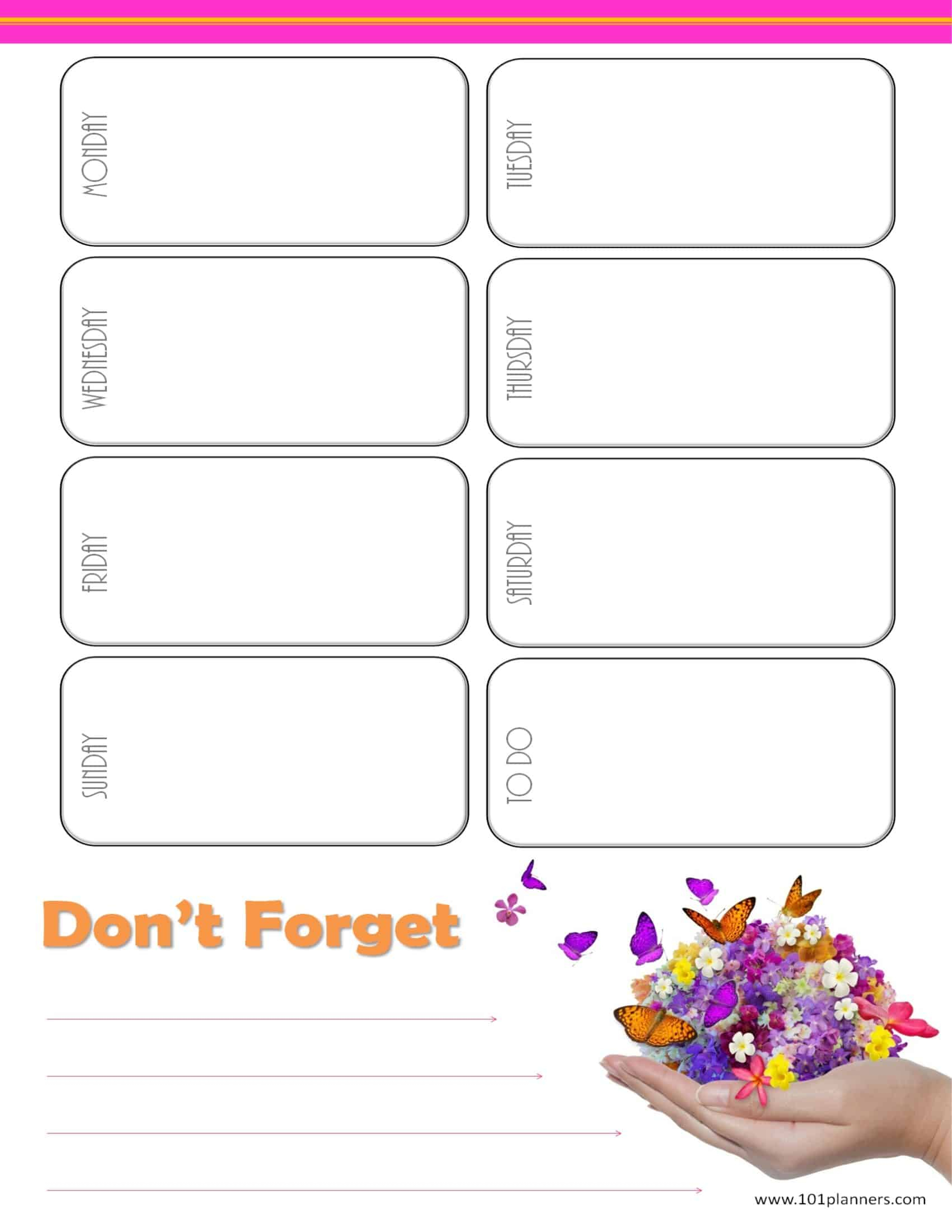 Weekly Calendar Maker | Create Free Custom Calendars