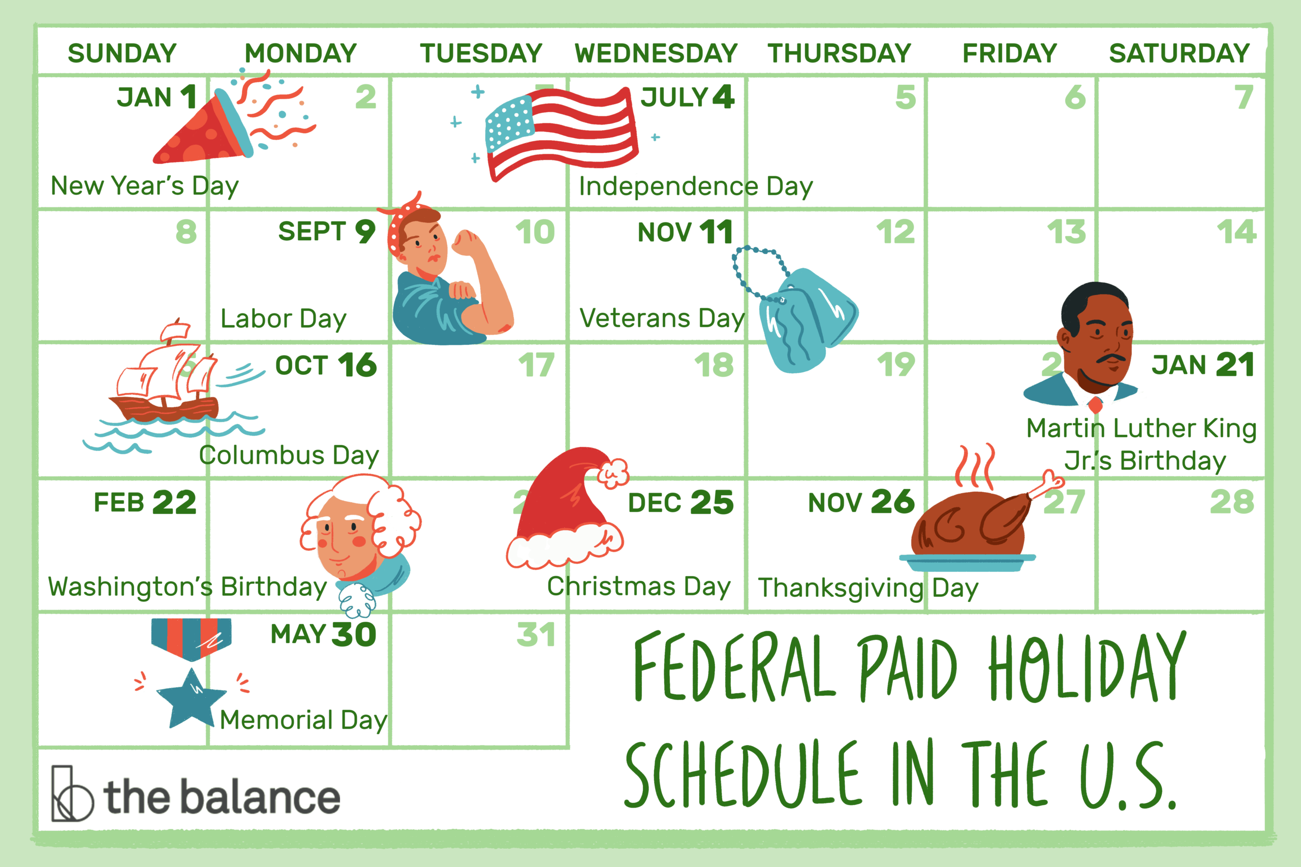 What'S A Typical Paid Holiday Schedule In The U.s.?