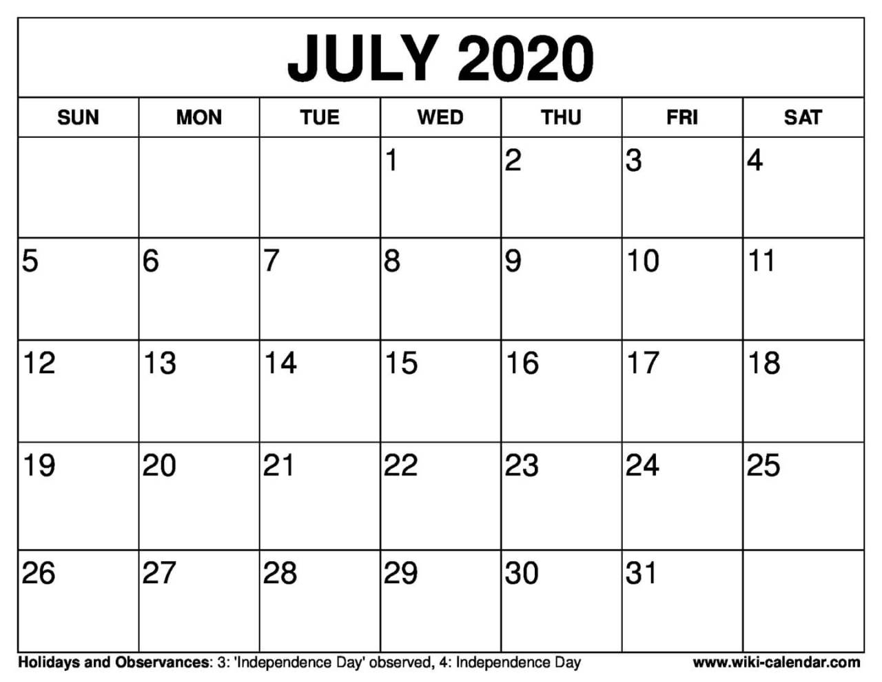 Wiki Calendar — Free Printable March 2020 Calendars