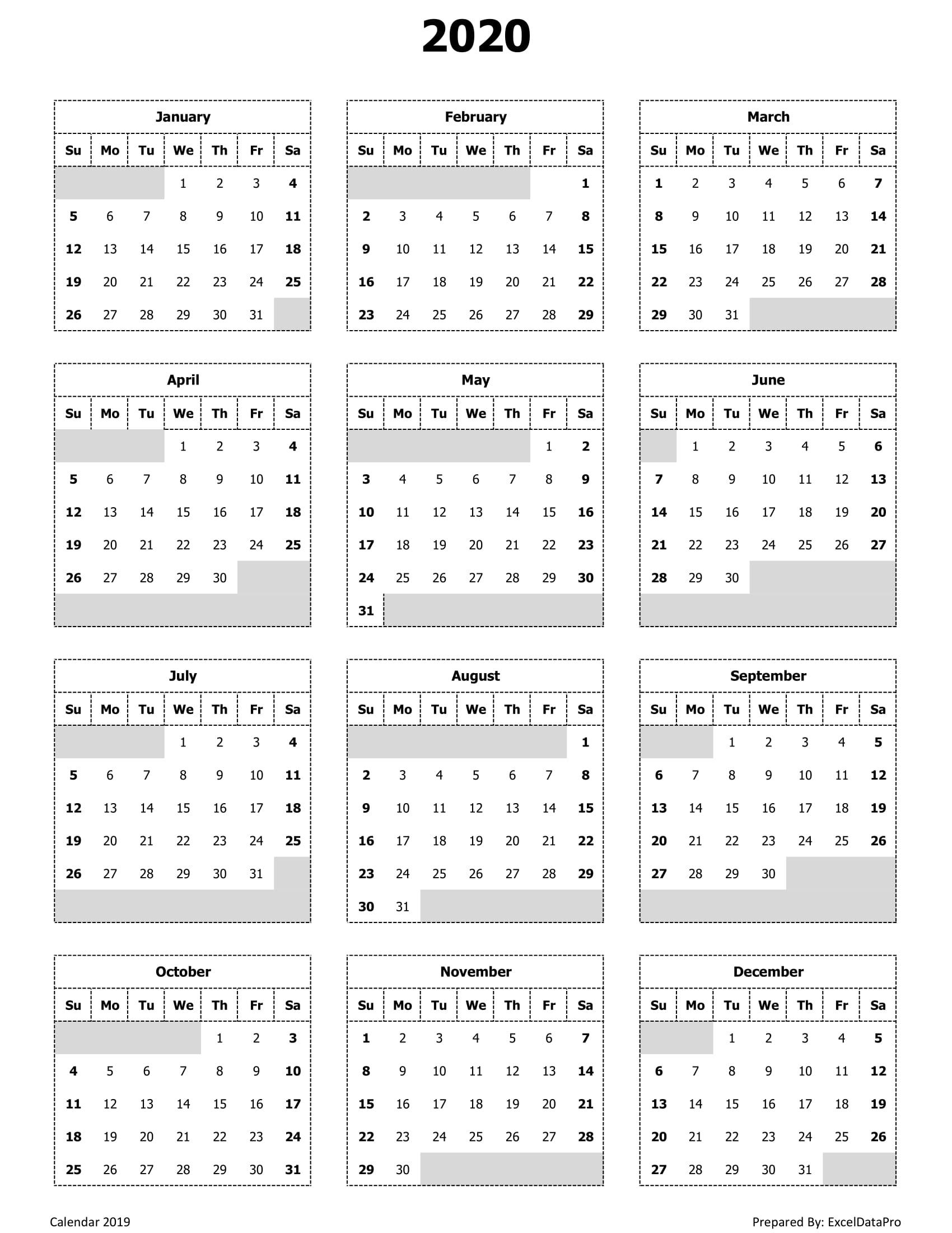Year View Calendar Printable | Ten Free Printable Calendar