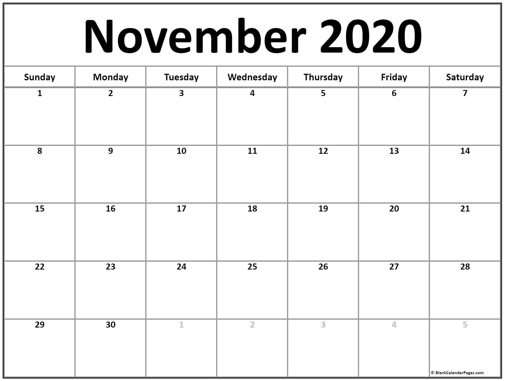 Zodiac Calendar November 2020 | Month Calendar Printable