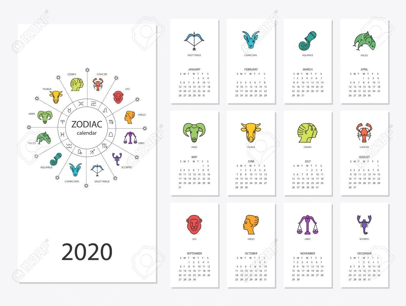 Zodiac Calendar Signs Dates | Month Calendar Printable