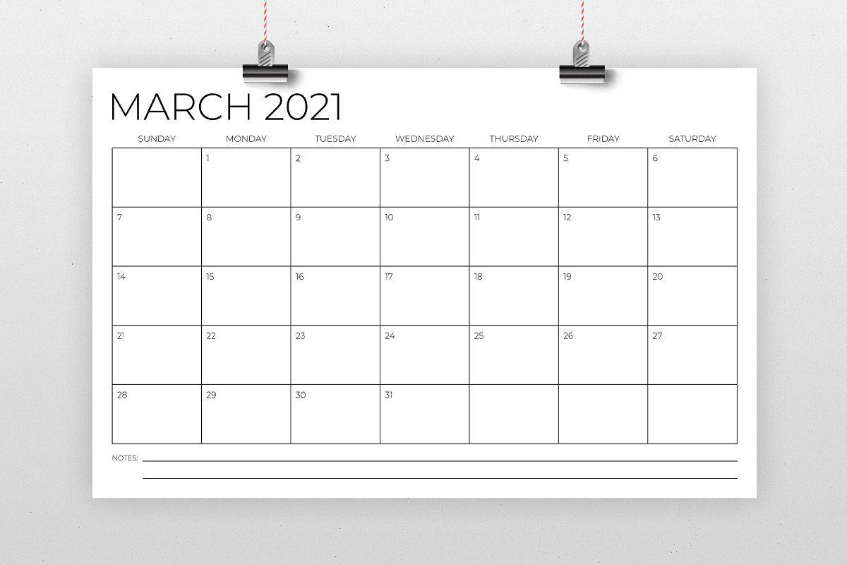 11 X 17 Inch Modern 2021 Calendar In 2020 | 2021 Calendar
