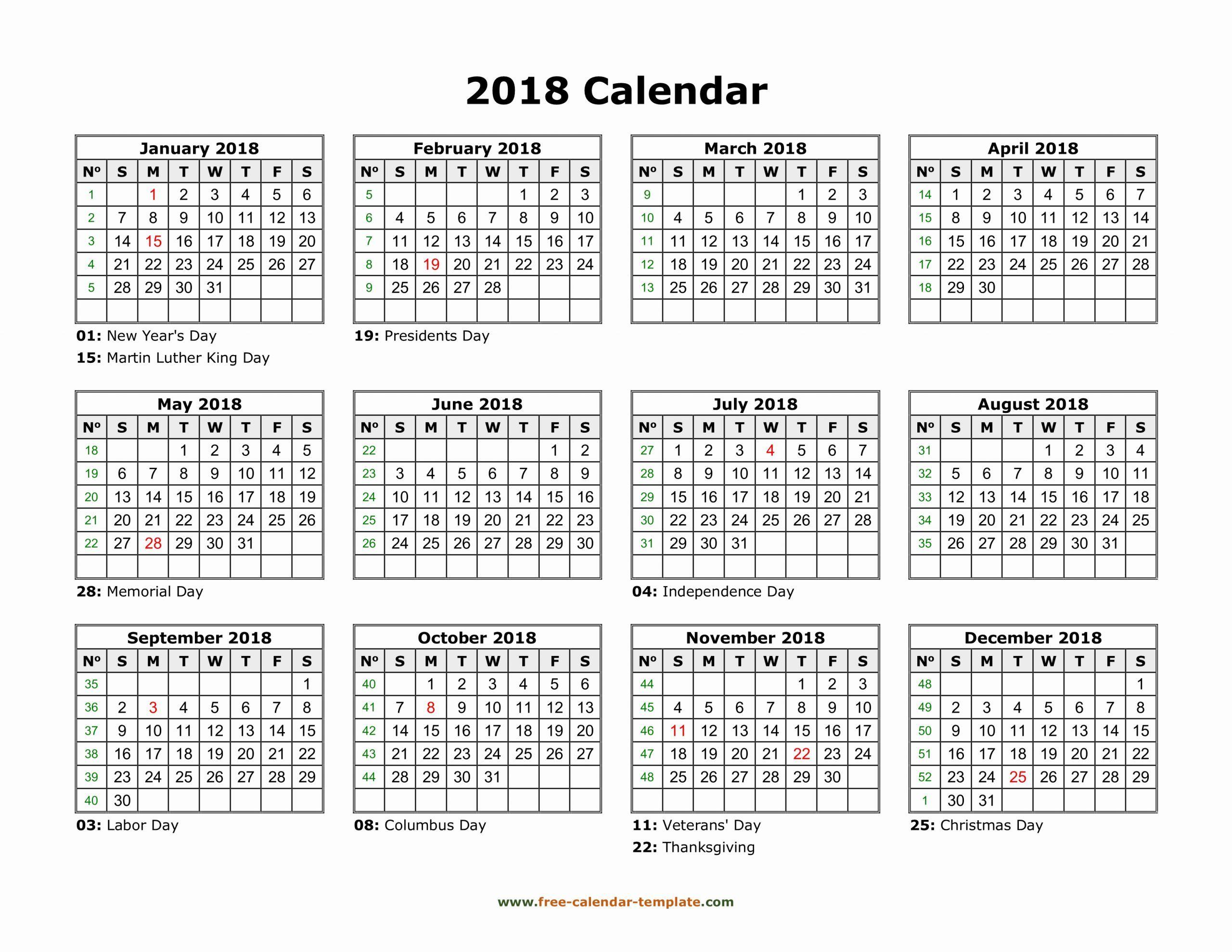 11×17 Printable Calendar In 2020   Calendar Template 2018