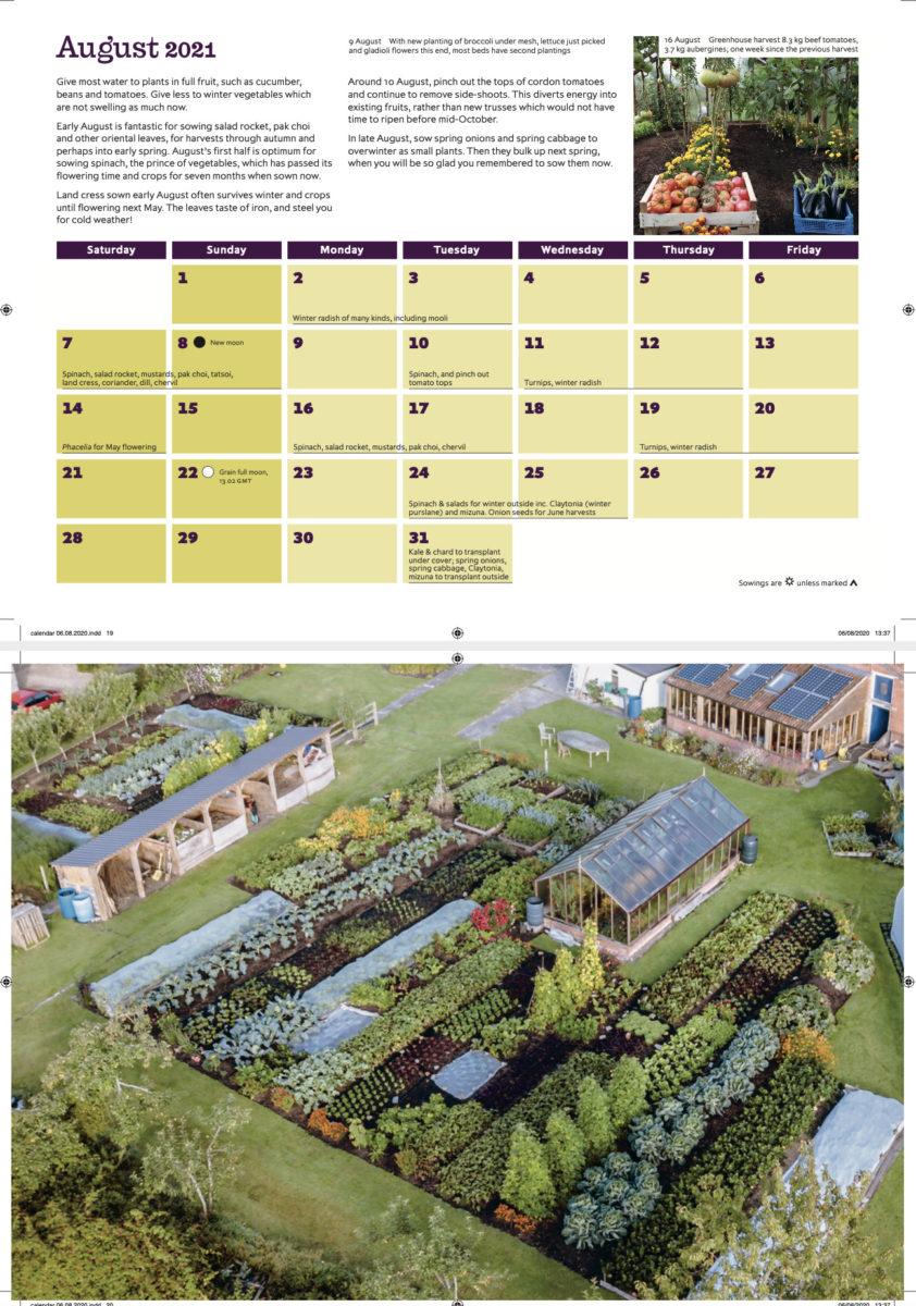 2 X Charles Dowding Gardening Calendar 2021