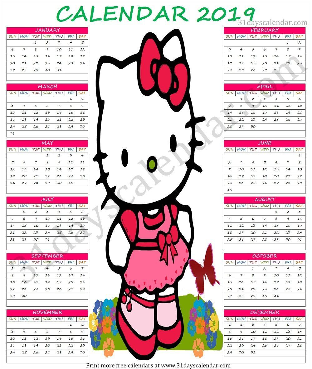 2019 Calendar Cute Printable | Printable Calendar Design