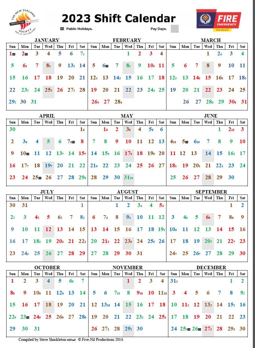 2019 Calendar - New Zealand Firefighters Welfare Society