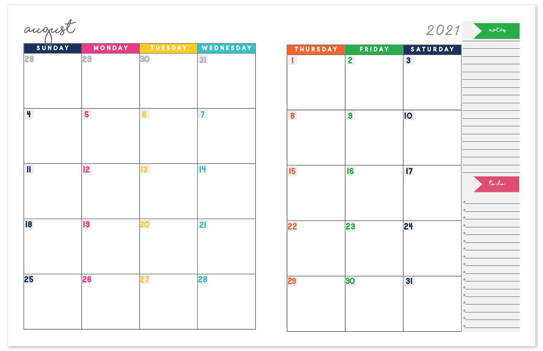 2020-2021 Monthly Calendar Planner   Free Printable Calendar