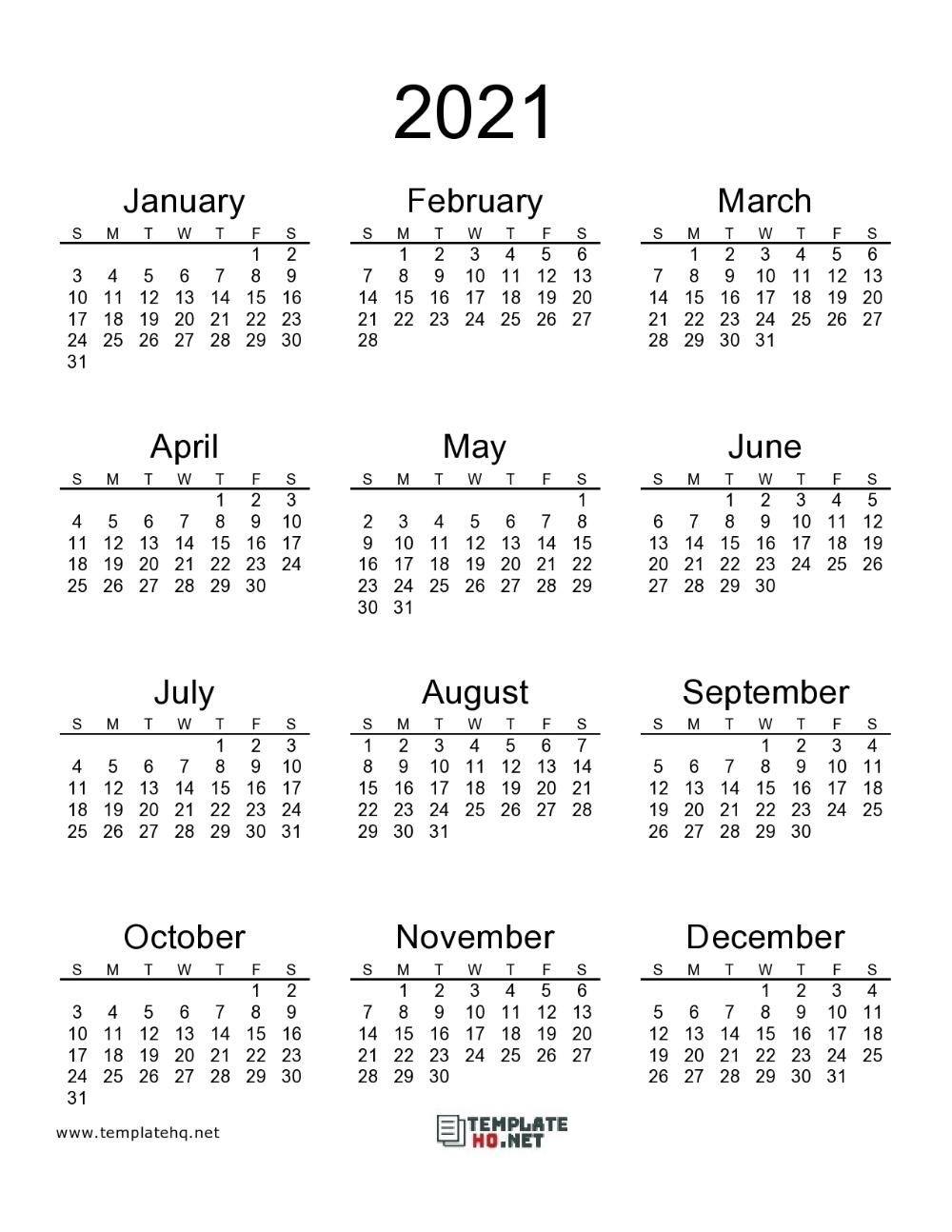 2021 Calendar Printable 00 In 2020 | Calendar Printables
