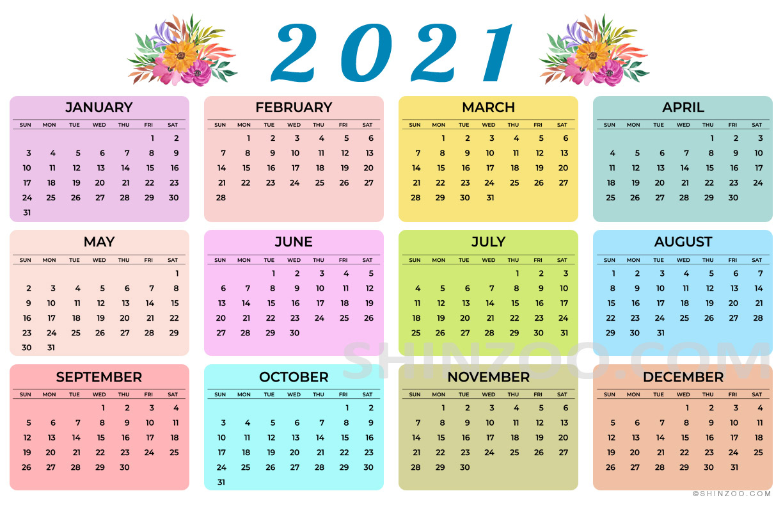 2021 Calendar Printable 11X17 Planner Template