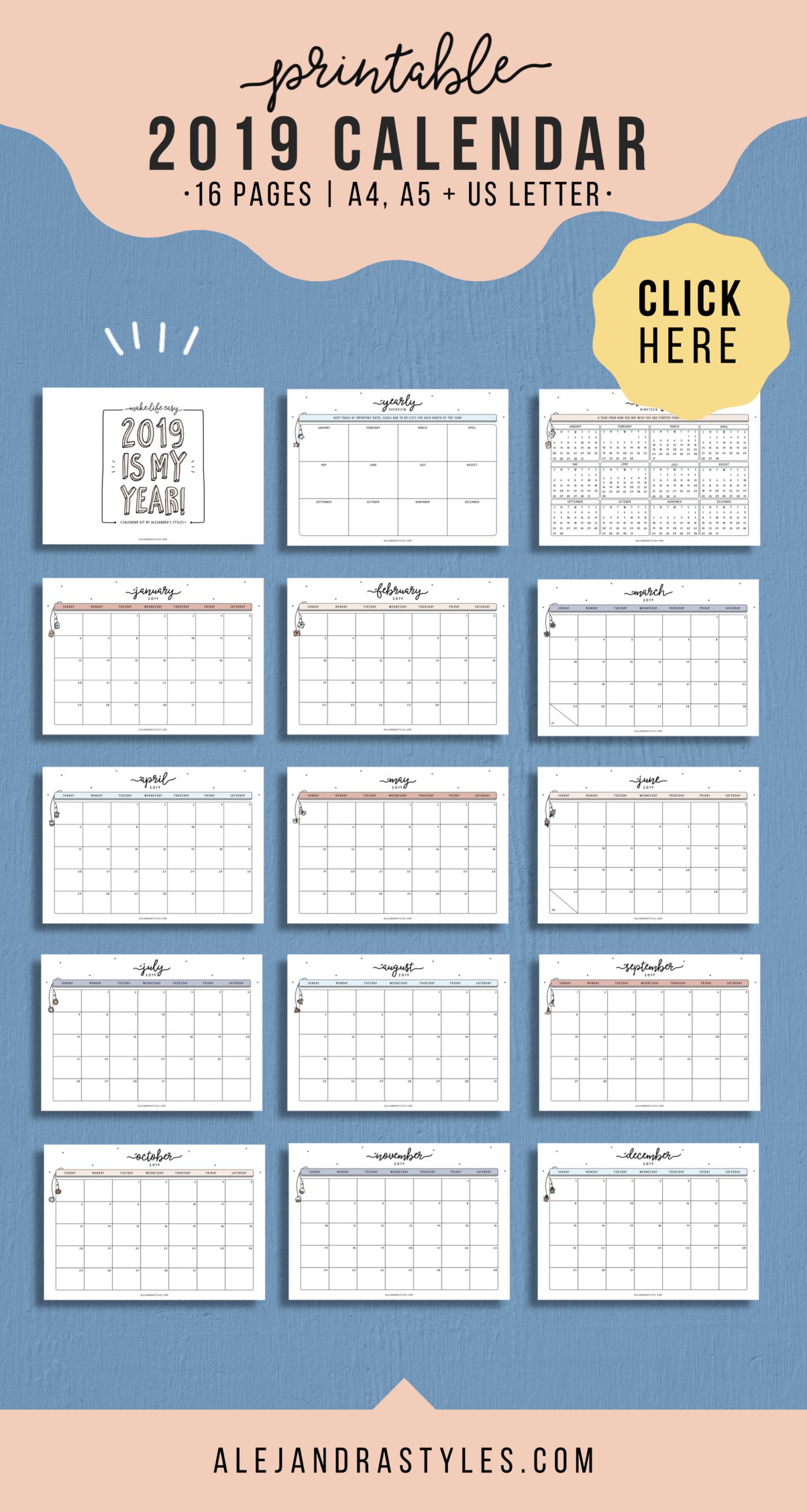 2021 Calendar Printable Planner January 2021 December 2021
