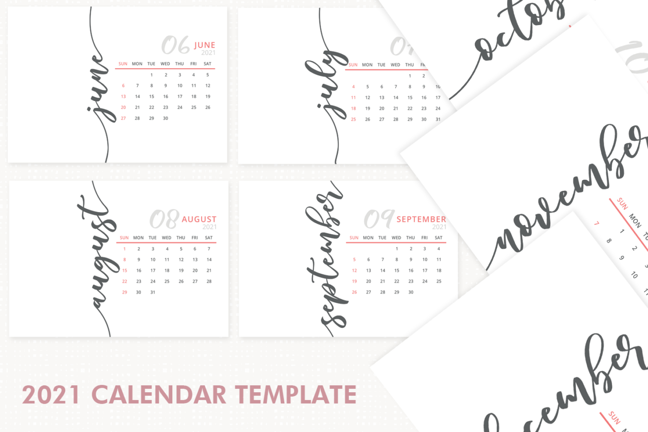 2021 Calendar Template Desk Calendar 2021 Printable
